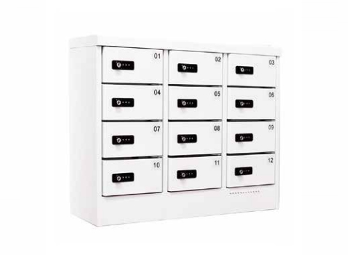 12-Door Mobile Charging Station with Digital Pin Lock