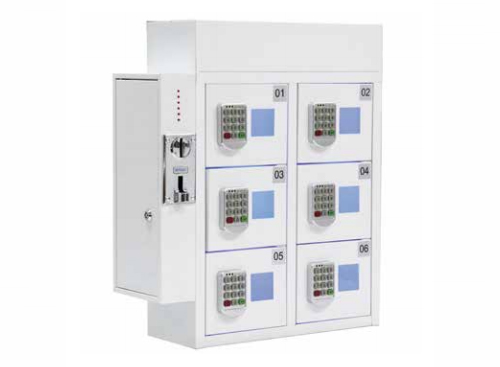 6-Door Coin Operated Mobile Charging Station with Digital Pin Lock